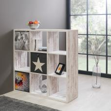 Version Shelving Unit Square In Fresco Oak With 9 Compartments