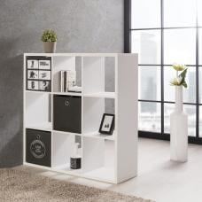Version Shelving Unit Square In White With 9 Compartments