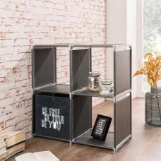 Vetra Shelving Unit Square In Anthracite With 4 Shelf
