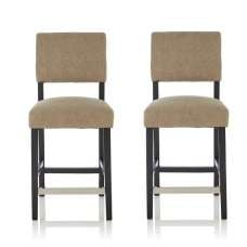 Vibio Bar Stools In Sage Fabric And Black Legs In A Pair