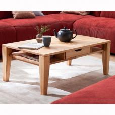 Vicenza Wooden Coffee Table In Core Beech With 1 Drawer