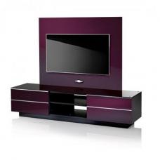 Damian LCD TV Stand With Background Plate