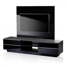 Black GS 180 TV Stand With Background Plate