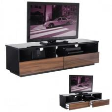 Iceburg Black And Walnut Gloss Low Level TV Stand