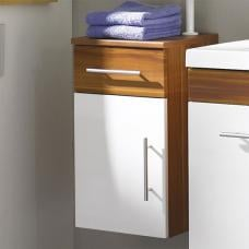 Impuls Modern Bathroom Cabinet In Walnut White
