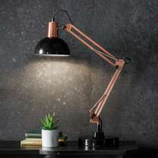 Watson Table Lamp In Bronze And Black Finish