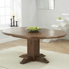 Welser Extendable Wooden Dining Table Round In Dark Oak