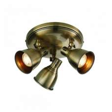 Westbury Three Ceiling Light In Antique Brass Finish