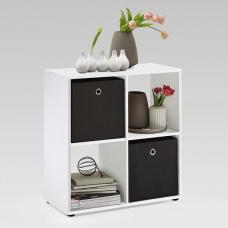 Westphalen Wooden Bookcase In White With 4 Compartments