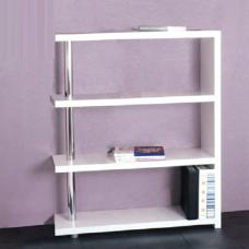 Roda 4 Tier Bookcase In White High Gloss