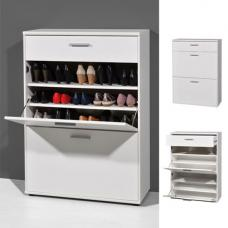 Big Foot Wooden Shoe Storage Cabinet In White