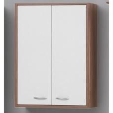 Madrid4 Bathroom Wall Cabinet In Plumtree And White With 2 Door
