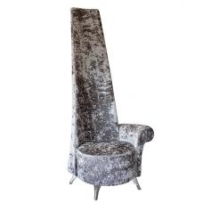 Wilton Left Handed Potenza Chair In Silver Crushed Velvet