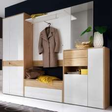 Winter Hallway Furniture Set 1 In Winchester Oak White Gloss