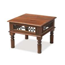 Zander Wooden Coffee Table Square In Sheesham Hardwood
