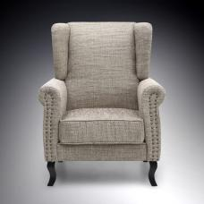 Zanetti Contemporary Arm Chair In Tweed With Dark Legs