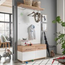 Zanotti Wooden Hallway Furniture Set 1 In White And Oak