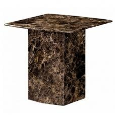 Zelder Contemporary Marble Lamp Table Square In Brown