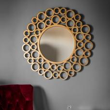 Zensen Stylish Wall Mirror Round In Gold