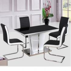 high gloss dining table and 4 chairs UK, gloss dining table sets