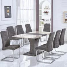 high gloss dining table and 8 chairs UK, black gloss dining table sets