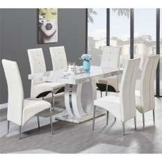 We have elegant high gloss dining tables sets with 4, 6 and 8 chairs to suit your needs and home