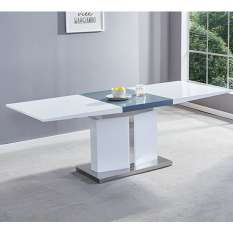 View our beautifully designed high gloss dining tables UK in beautiful shapes and extendable designs