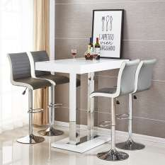 Shop contemporary bar table & stools sets in glass, gloss and wood
