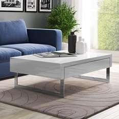 Coffee tables with storage for your living room! Styles in high gloss, wood, marble & glass
