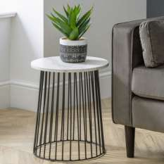 Sofa end tables in various materials including wood, glass, gloss & marble for your living room