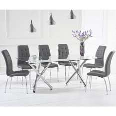 Quality 6 seater glass dining table sets available in a variety of styles and shapes like round, rectangle and square
