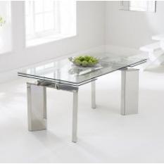 glass dining tables, glass dining room table, extending glass dining table