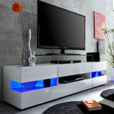 Choose from stunning and contemporary high gloss TV stands, units & cabinets with led lights