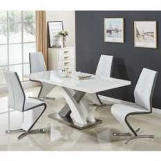 high gloss dining table and 4 chairs sets UK