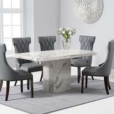 Marble Dining Table And Chairs Sets Furniture In Fashion