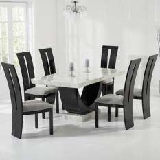 marble dining table and chairs sets UK