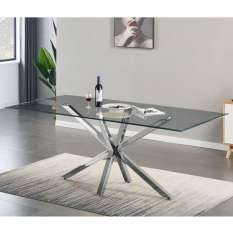 Browse a wide range of glass dining tables in round, rectangular and square shapes with stunning styles, colours and sizes