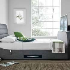 Watch TV with comfort on bed with our modern TV beds available in different sizes with storage
