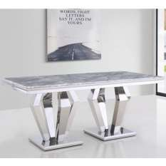 Choose modern dining tables UK from various materials and styles like wood, glass, high gloss and marble