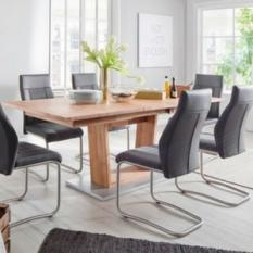 wooden extending dining table and chairs sets UK
