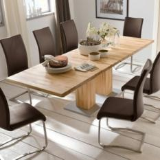 wooden extending dining tables UK, wood extendable dining table