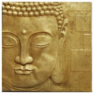 Peaceful Gold Buddha 3D Wall Art