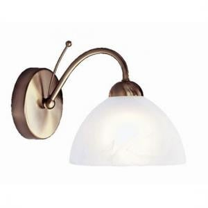 Milanese Antique Brass Single Wall Light