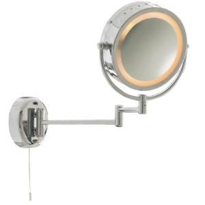Chrome Bathroom Mirror With Adjustable Arm