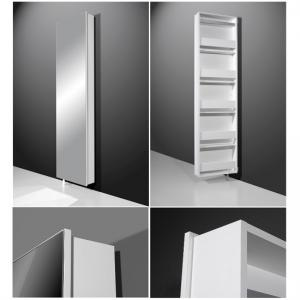 Igma Mirrored Rotating Shoe Storage Cabinet In White_6