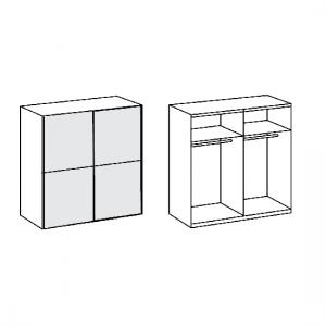 Quest Mirrored Sliding Wardrobe Large In Lava With 2 Doors_2
