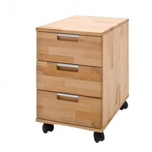 Cento Core Beech Wooden Office Pedestal With 3 Drawers