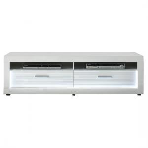 Starlight LCD TV Stand In White High Gloss With 2 Drawers