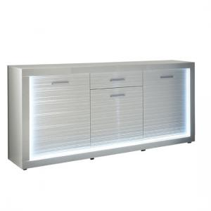 Starlight Sideboard In White High Gloss With 3 Door And Drawer
