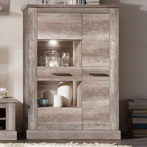 Montreal Display Cabinet 2 Door In Monument Canyon Oak With LED